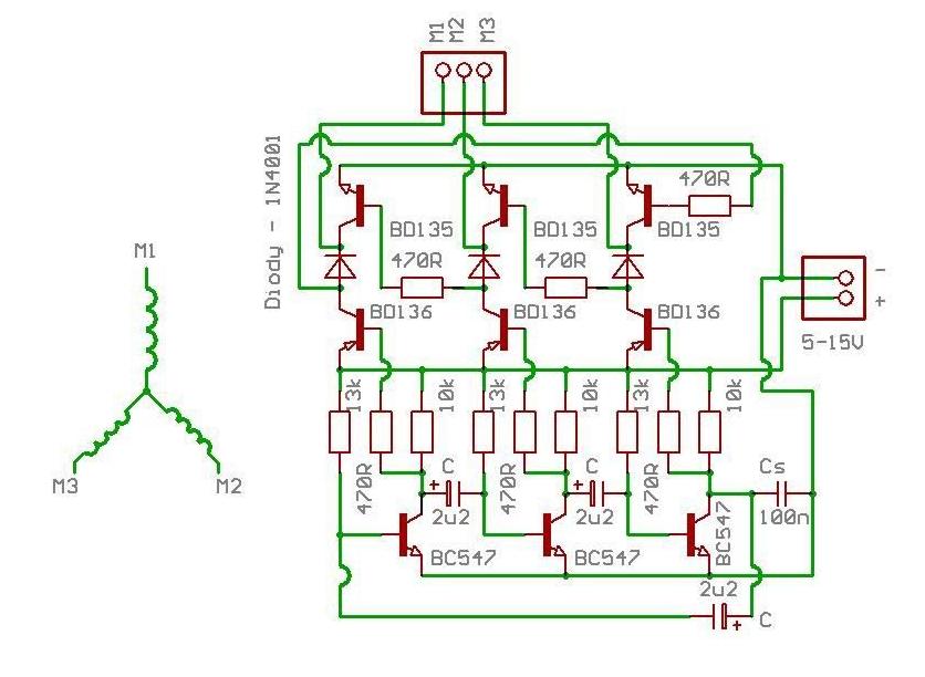 3-fazowy regulator silnika modelarskiego