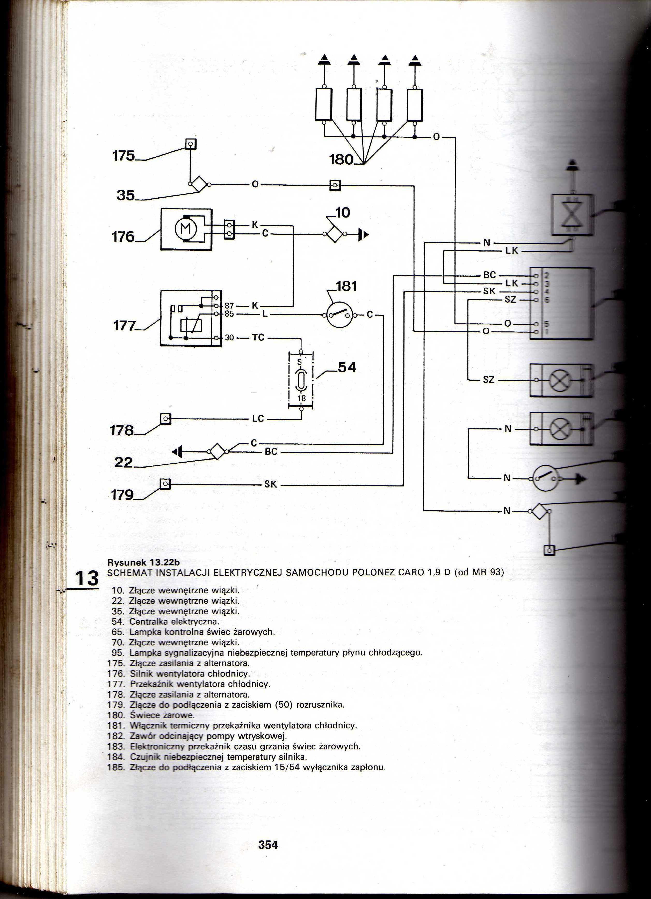 polonez 19diesel schemat elektryka elektrodapl