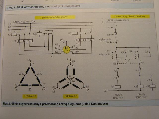 Identyfikacja zacisków uzwojeń silnika produkcji DDR Wernigerode TGL 20675