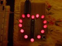 Serce z diod LED