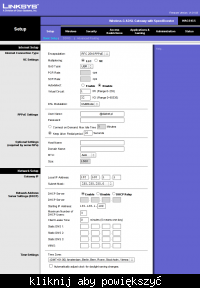 DSL TP, Linksys WAG54 i Efficent SpeedStream 5100