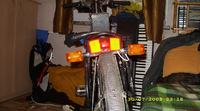 Niecodzienne oświetlenie rowera.