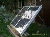 Kolektor słoneczny z paneli grzejnikowych