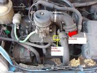 Wymiana termostatu w CC 900, gaźnik