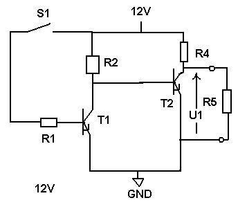 Załączanie tranzystora dużej mocy tranzystorem małej mocy
