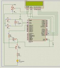 Symulacja Proteus Atmega32 LCD