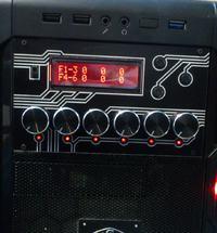 Panel kontrolny do PC - 6-kanałowy nastawnik obrotów wentylatorów