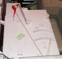 Whirlpool AWM 6081 - zasobnik proszku