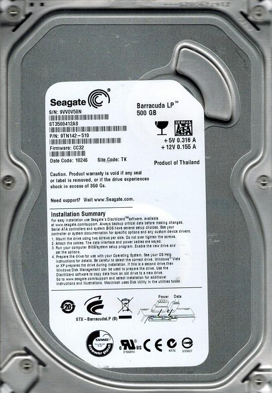 Seagate Barracuda LP 500GB ST3 - Niepowodzenie naprawy terminalem USB