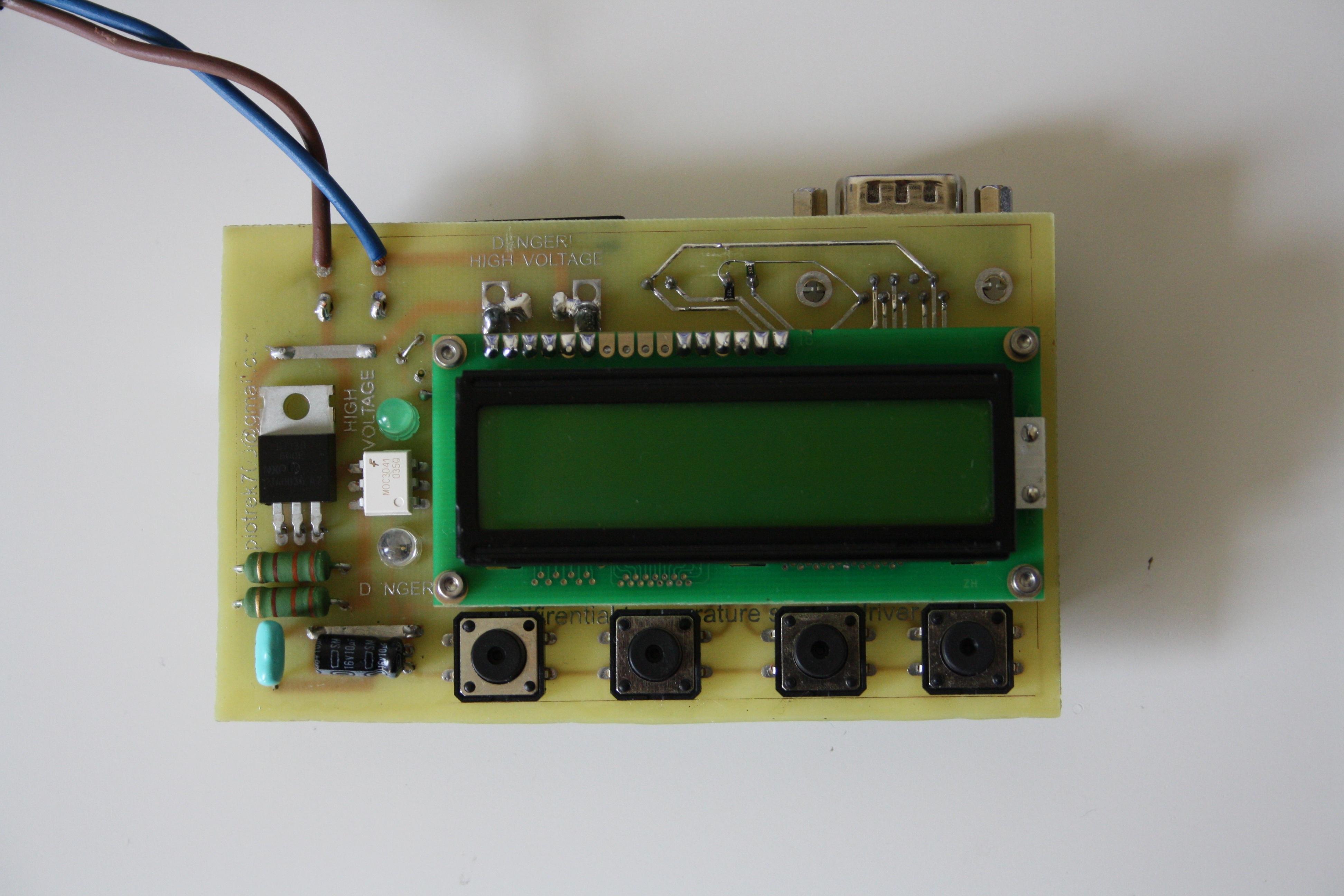 Dwuczujnikowy regulator temperatury v2.0