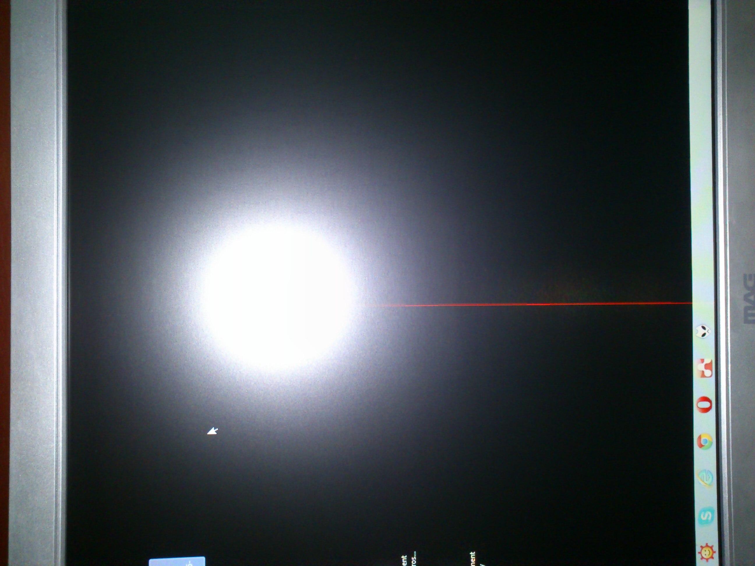 """MAG BP2219W 22"""" - Pionowa czerwona linia na �rodku ekranu"""