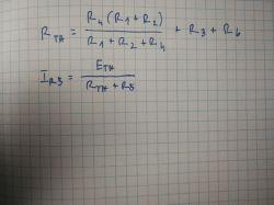 Twierdzenie Thevenina, wartość natężenia prądu