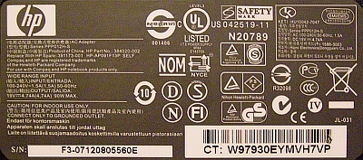 HP series PPP012H-S model: AP091F13P Out: 19V/4,7A/90W naprawa...