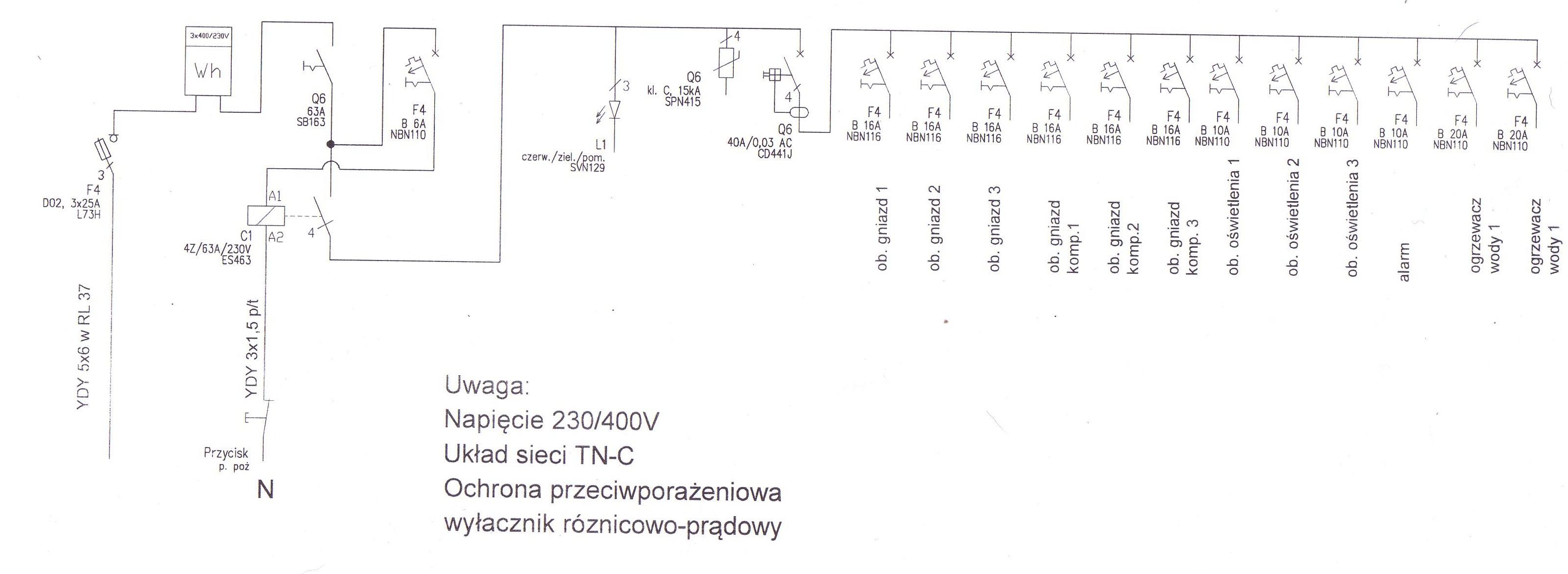 Jak czyta� schemat rozdzielnicy elektrycznej?