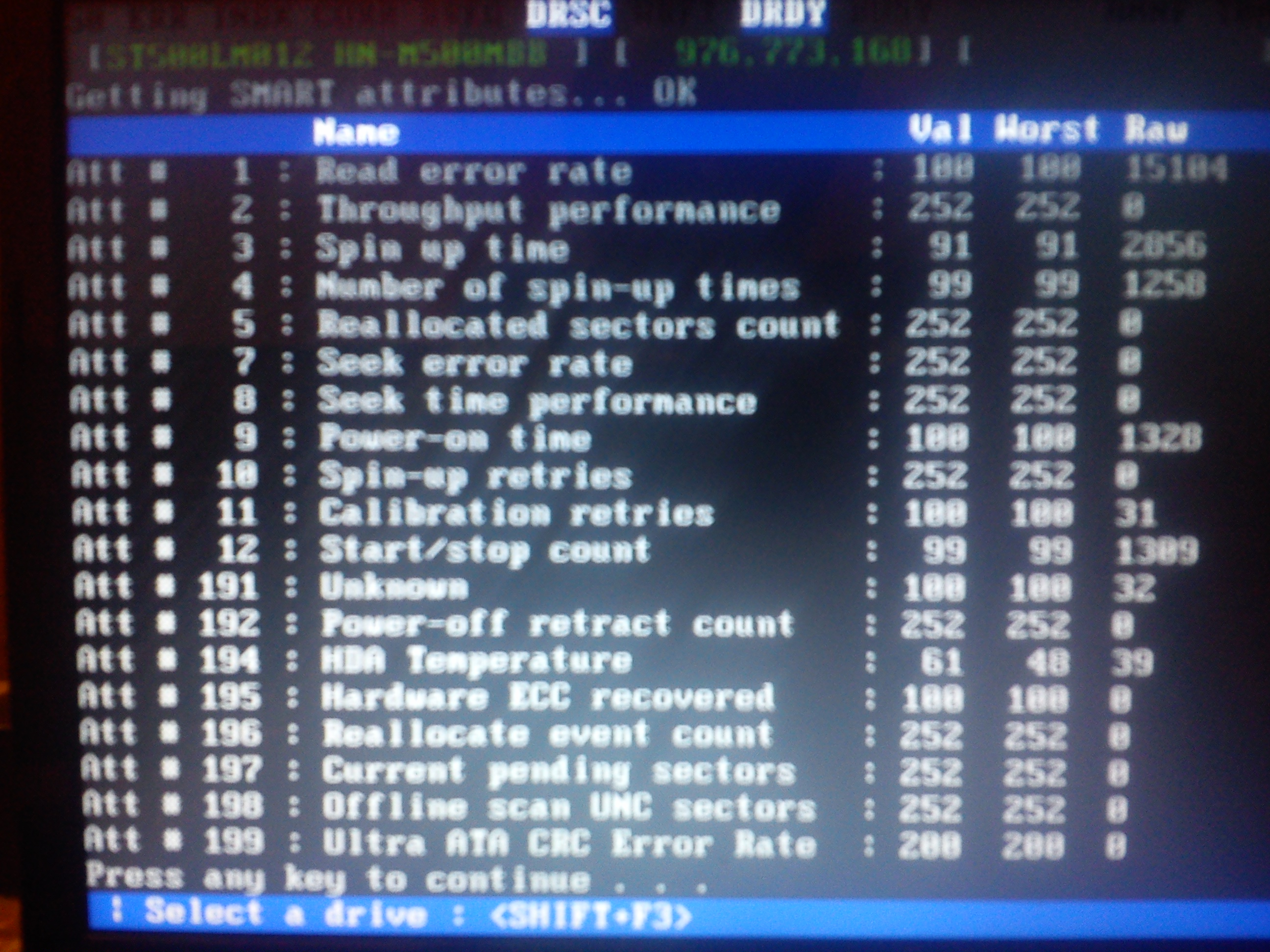 Lenovo G580 - HDD bios widzi/nie widzi, b��d odczytu danych na dysku