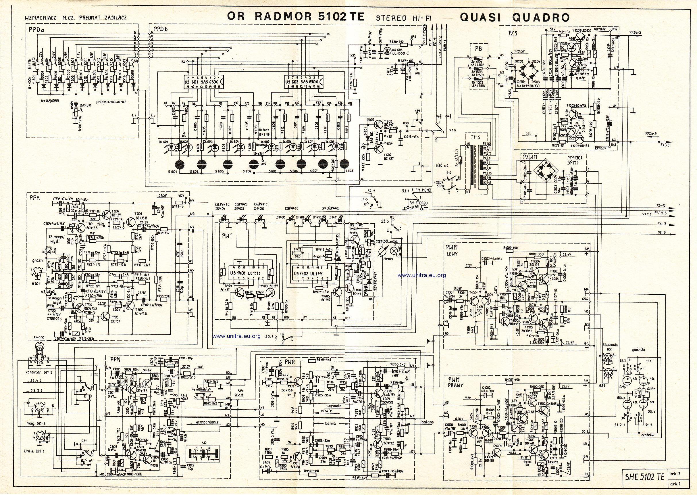 Braku�ce elementy w Radmor 5102