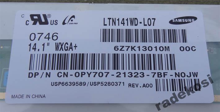 Dell D620 wymiana matrycy na WXGA+ 1440x900 nie dzia�a