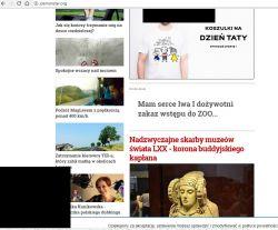 Czarne kwadraty przy przeglądaniu stron www w przeglądarce.