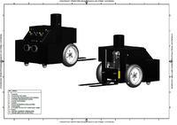 Model autonomicznego wózka magazynowego (AGV)