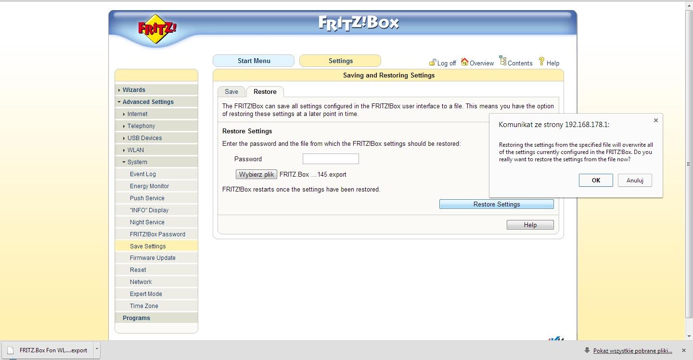 fritz box 7170 - brak zmiany adresu mac