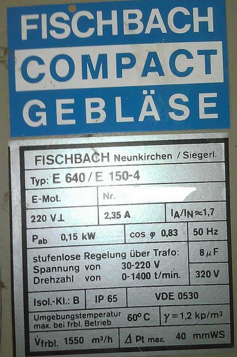 E 640 / E 150-4 - Pod��czenie wentylatora promieniowego