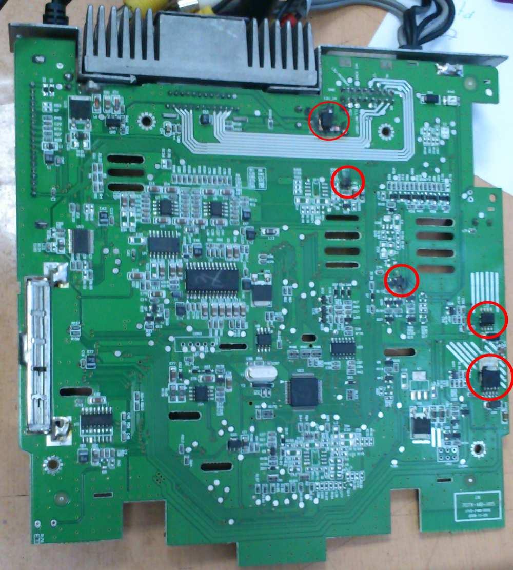 Overmax OV-CR-414 - Spalone elementy po odwrotnym pod��czeniu zasilania.