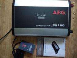 [Sprzedam] Przetwornica AEG SW-1500 12V 230V czysty sinus 1500W