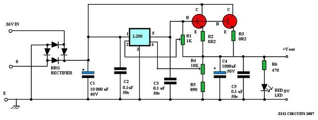 Battery Charger as well Converter likewise Capacitive Power Supply furthermore Battery Eliminator Circuit besides Forum. on 12 volt voltage regulator diagram
