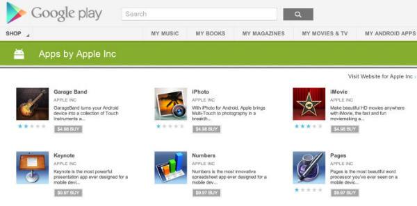Fa�szywe aplikacje Apple w sklepie Google Play
