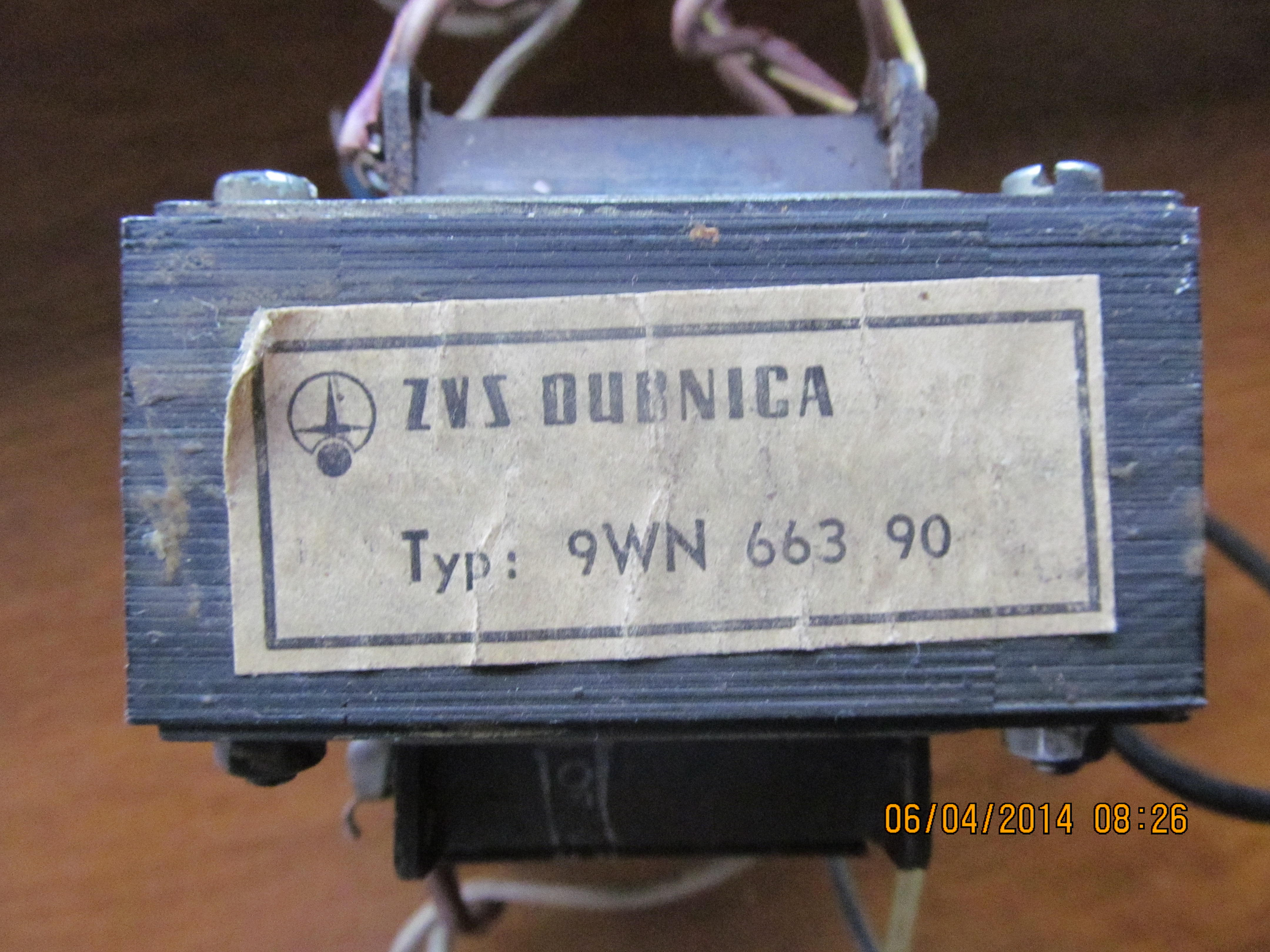 Transformator 9WN 663 90 -szukam opisu modelu.