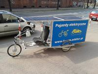Słonecznik pojazd elektryczny ładowany słońcem
