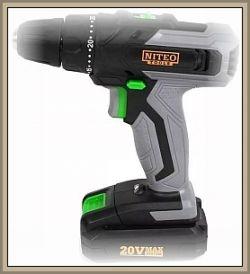 NITEO TOOLS 20VMS-CD468-19 - Co można wiercić wiertarką na baterię?