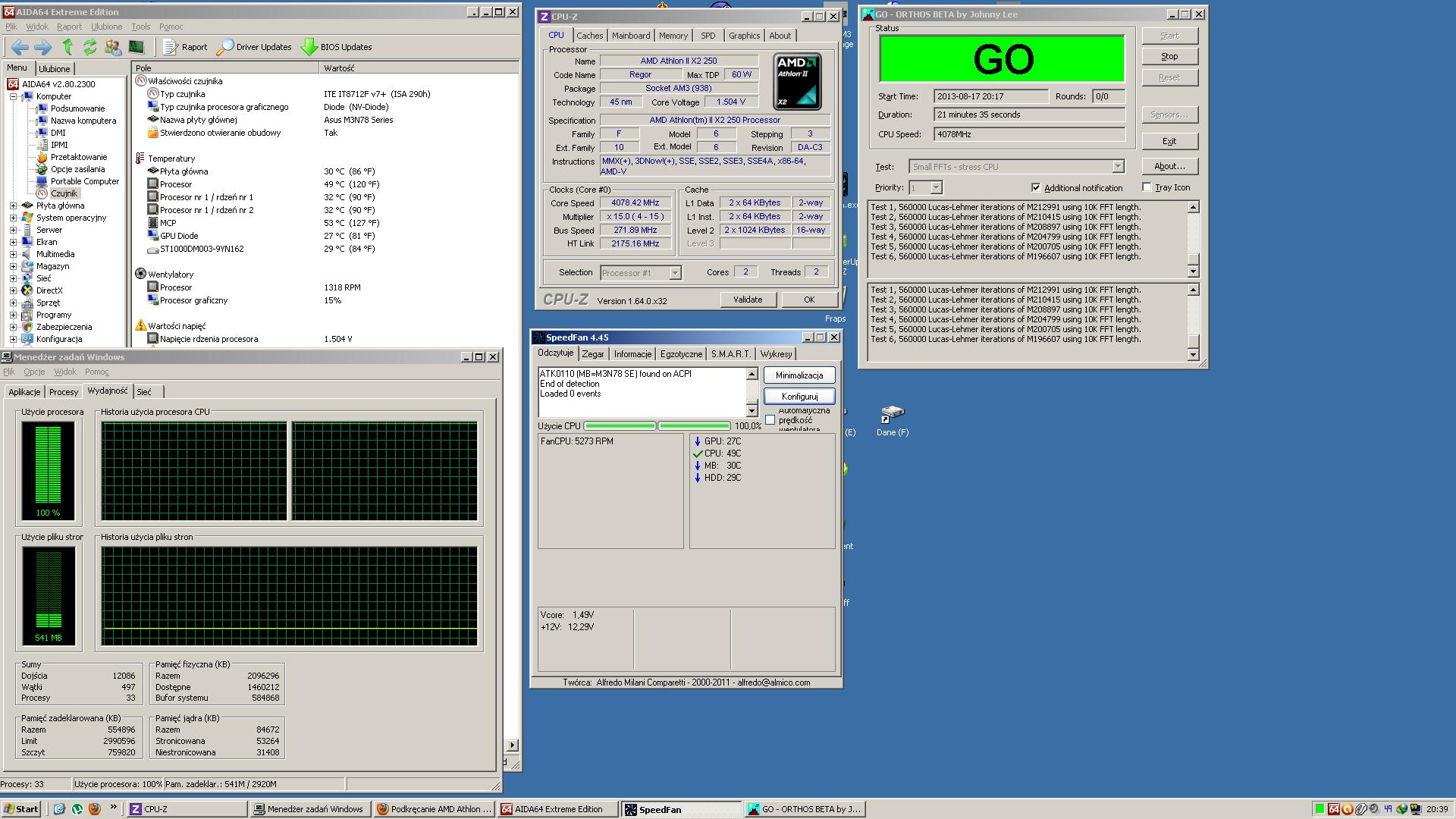 Podkr�canie AMD Athlon II X2 250