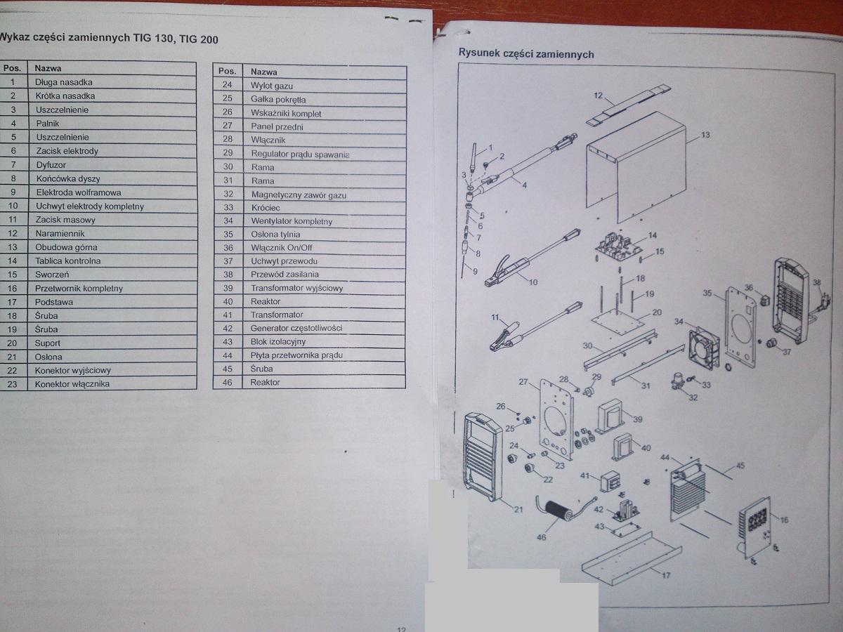 Inwerter DEKATECH TIG 130 Spalone tranzystory, zamienniki tranzystor�w