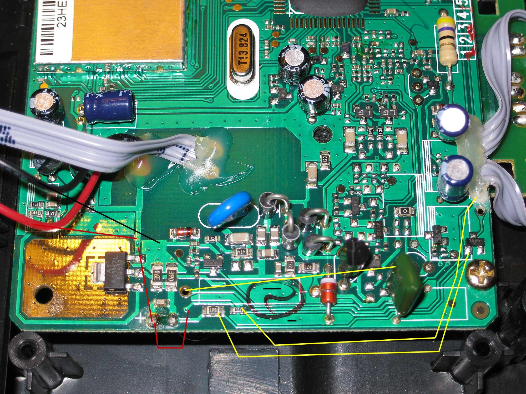 Thomson Alcatel - DECT ce21829CE4-A schemat - poprawa z�ego �adowania NiMh