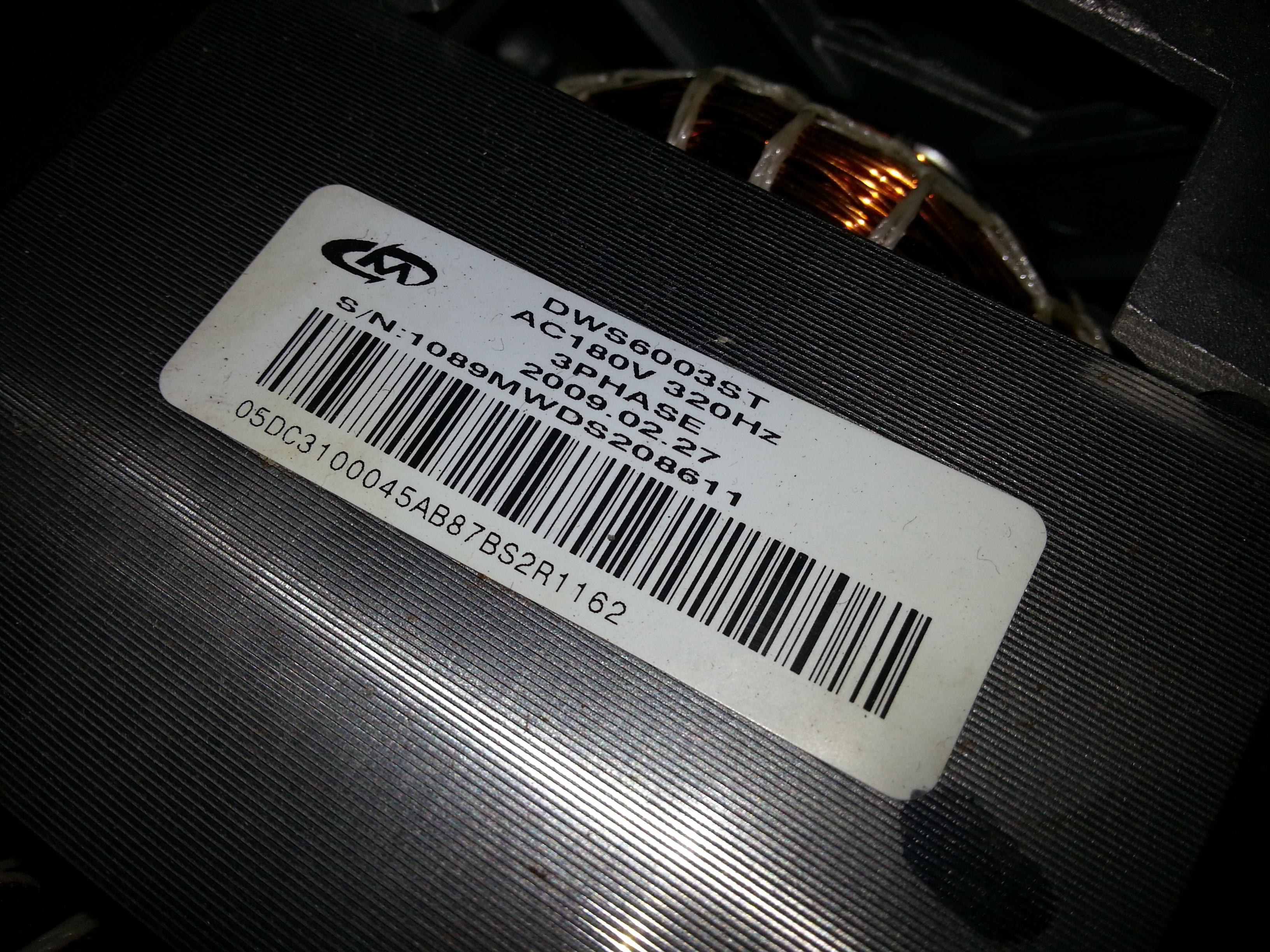 [Sprzedam] Silnik DWS6003ST do pralek Samsung