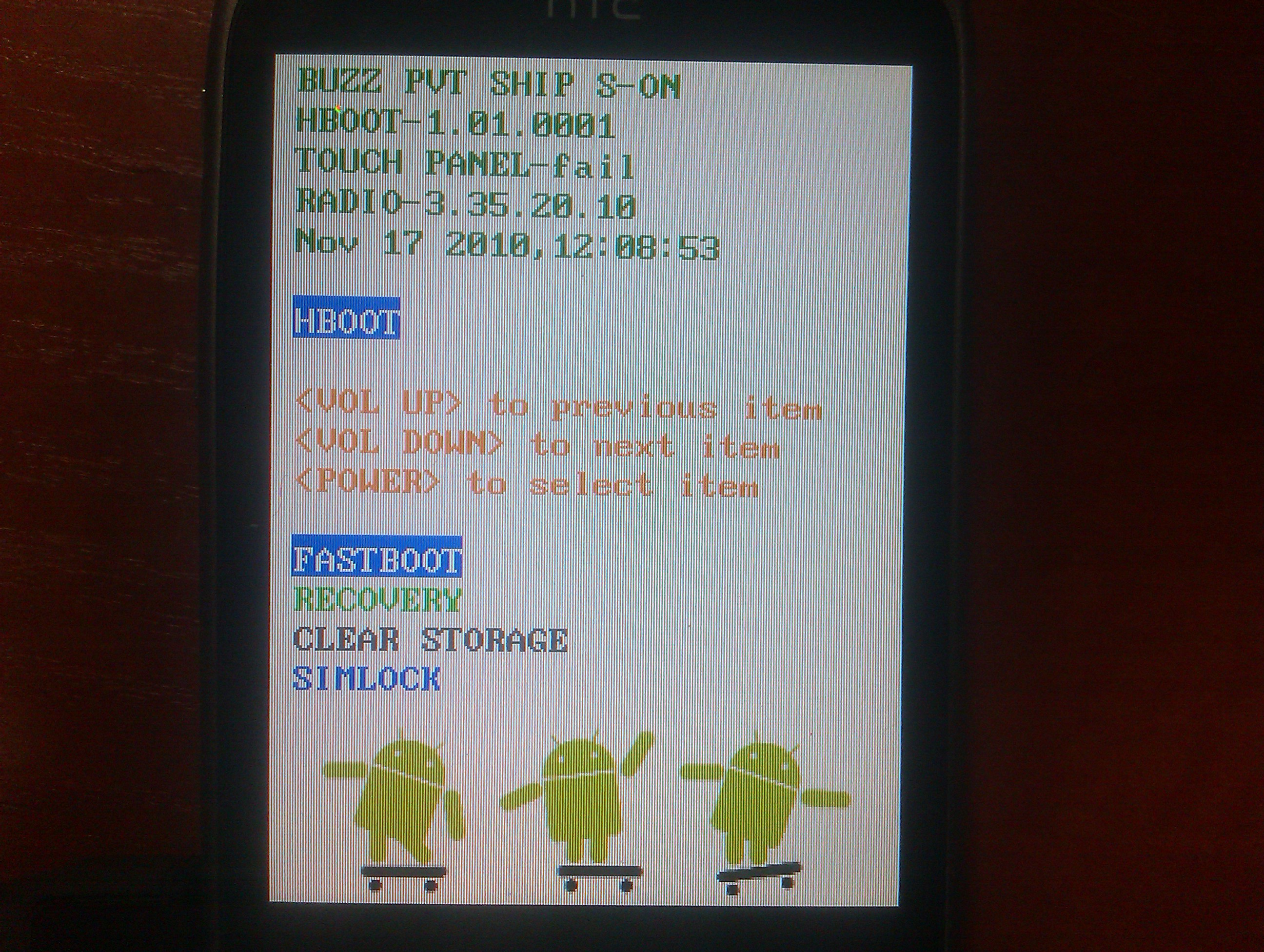 htc wildfire a3333 - TOUCH PANEL - fail