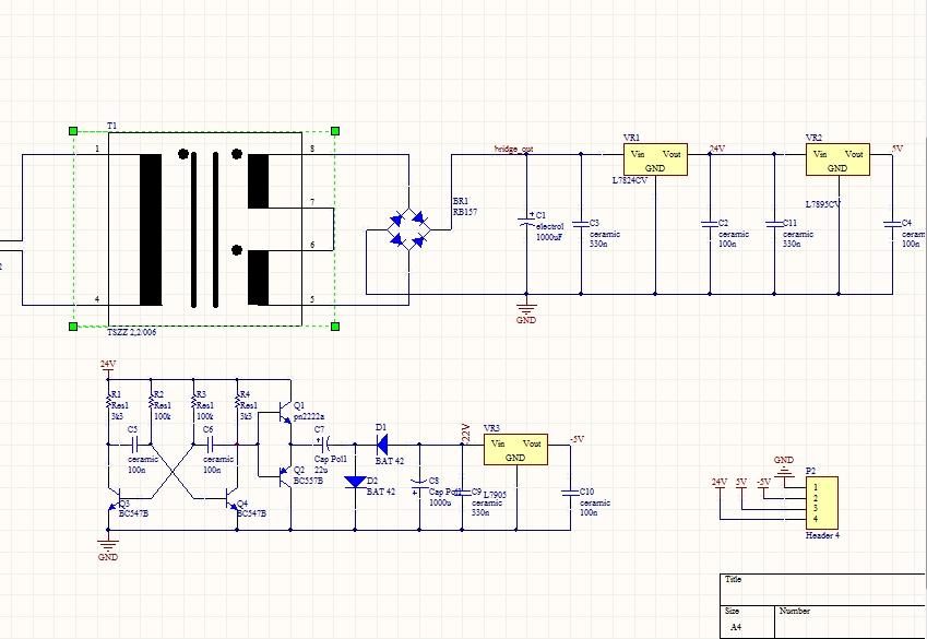 L7905CV Схема Включения.