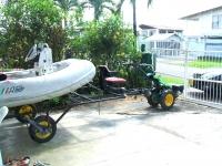 Traktorek jednoosiowy jako naped przyczepy podlodziowej