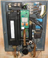 CLAGE 13,5 kW model CBX13 Świecąca sie kontrolka Overheat