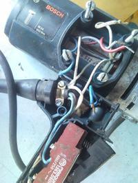 Klucz udarowy Bosch - przełącznik