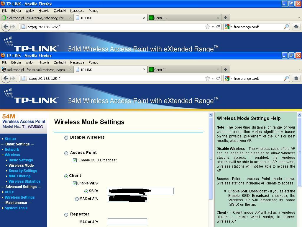 Jaka antena Wifi,Spalona karta sieciowa itp :(