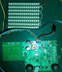 WS2812 via DMX (512 LED) & USB to DMX Converter na AVRmega. Gry Tenis, Galag