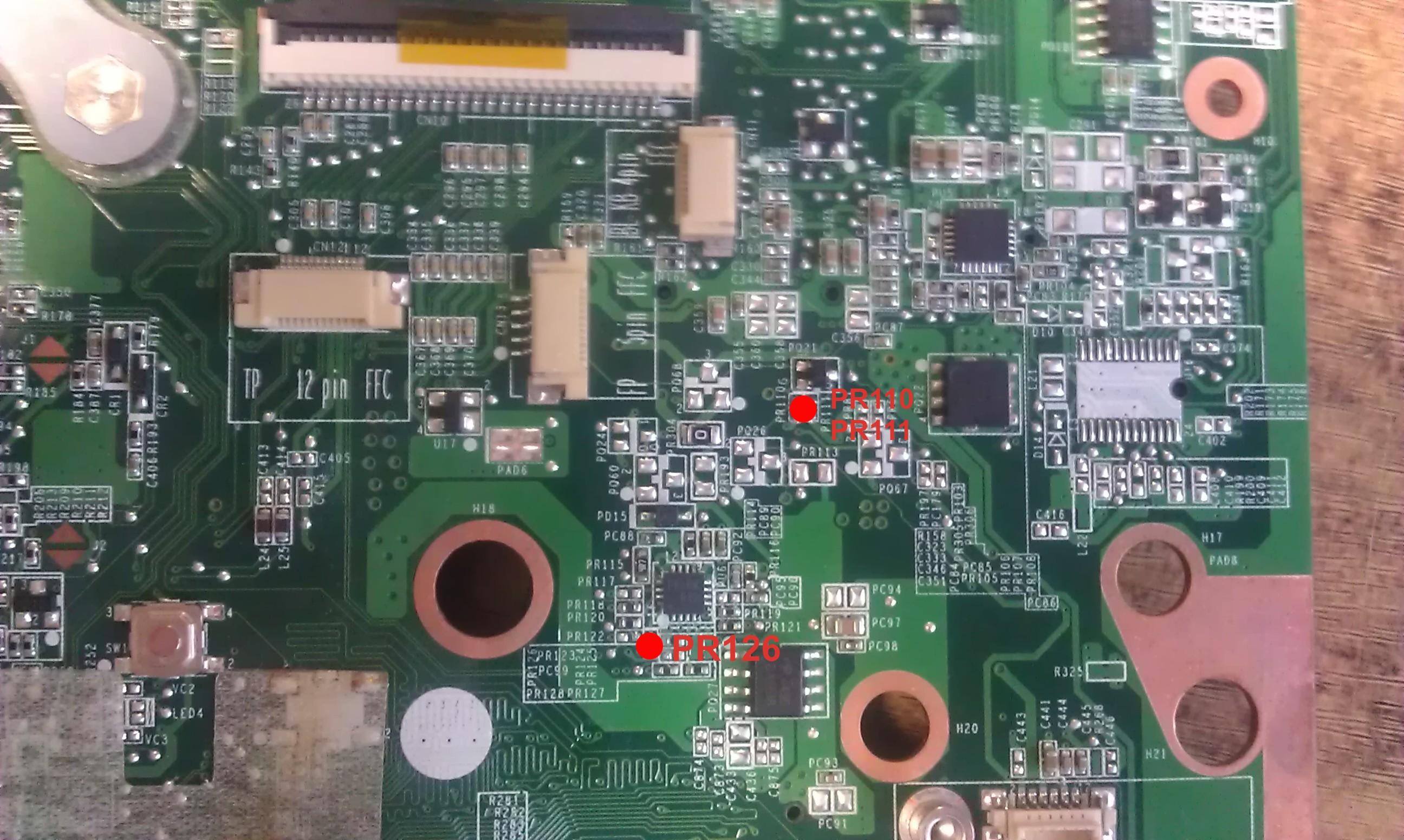 HP DV6-2120ew - Pro�ba o identyfikacj� element�w na p�ycie