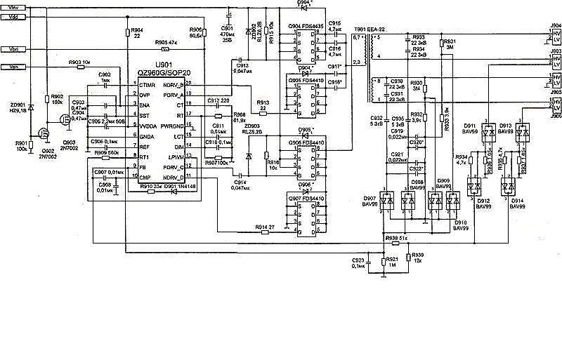 Структурная схема инвертора приведена на рис. 2.. производителей ( EMAX, TDK), выполненных по аналогичной схеме...