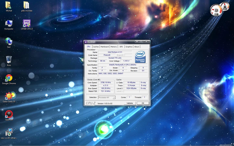OC P4 LGA 775 - Podkr�canie Intel Pentium 4 lga 775 - mno�nik