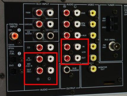 Pod��czenie amplitunera z korektorem graficznym