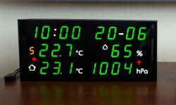 Stacja pogodowa LED z zegarem NTP i kalendarzem