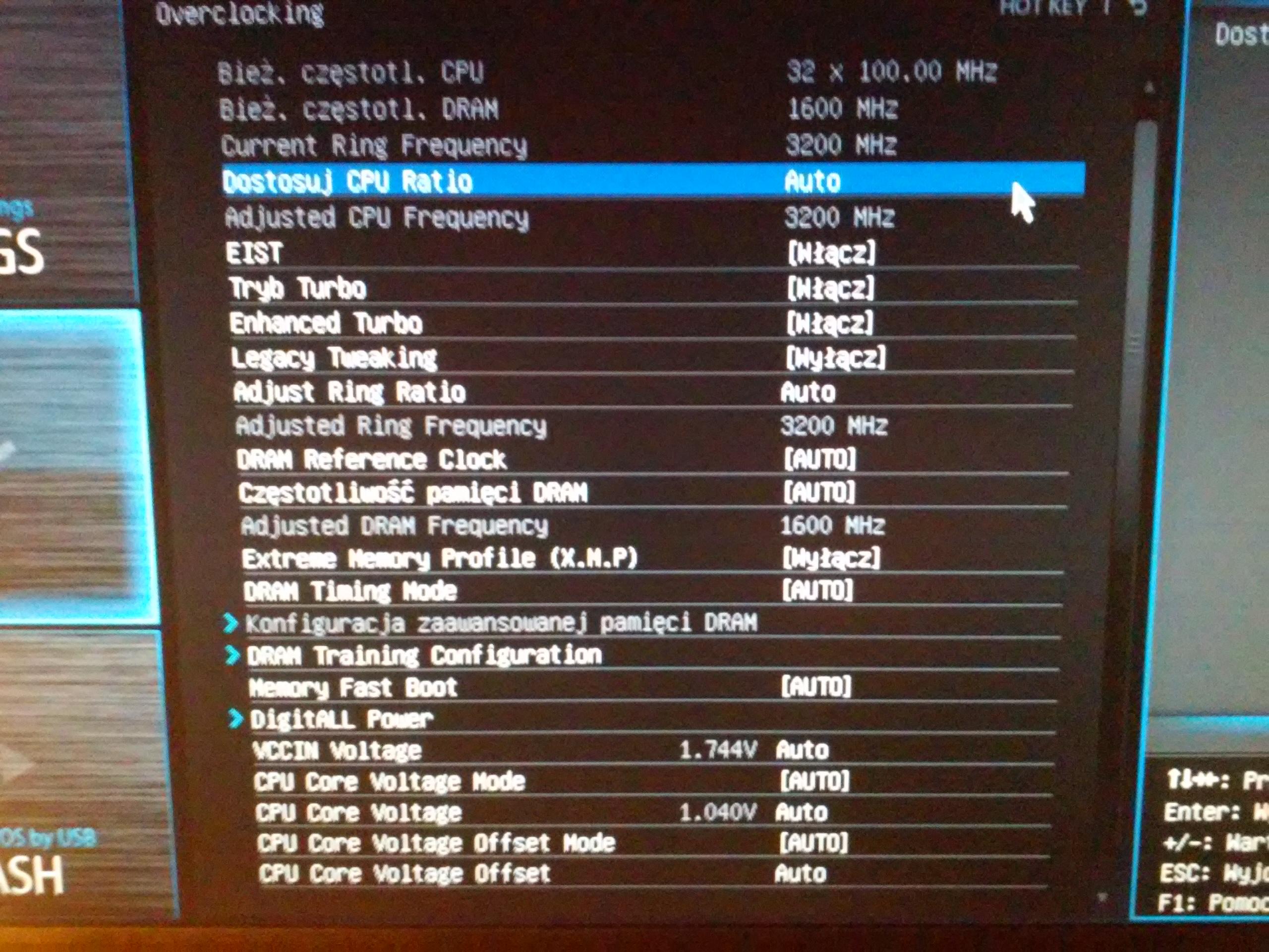 Turbo boost nie chodzi na procesorze i5 4460