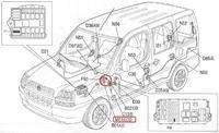 Fiat doblo 2002r pilot zamyka auto ale nie otwiera.